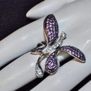 925 Gemstone Symbolic Change/Joy Butterfly Ring